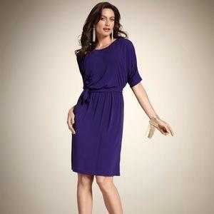 Chicos Dolman Sleeve Purple Dress Sz L/12